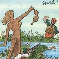 Funny Cartoon of Duck Hunter